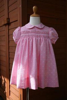 『スモッキング刺繍のベビードレスと小もの』 ワンピース