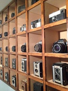 UK-based photographer Marco Marques owns an impressive collection of around 50 vintage cameras. After his collection outgrew two glass display cabinets, Ma