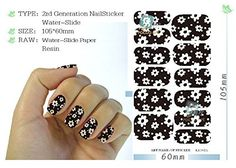 5 Sheet, Water Transfer Foil Nail Art Sticker White Flower Black Nails Sticker Manicure Decor Styling Tool Finger Nail Wraps Decal * Check out this great product.