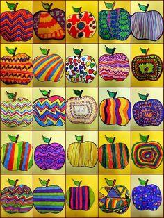 Jesienne inspiracje Landscaping iDeas Crafts For Kids 🍂 Fall Art Projects, School Art Projects, Art School, Apple Art Projects, Art Education Projects, Pop Art, Classe D'art, 2nd Grade Art, Kindergarten Art