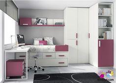 Dormitorio Infantil: 2 camas  Armario rinconero