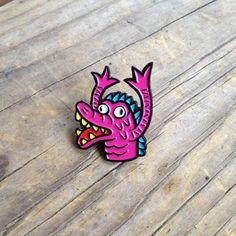 Finger Monster Enamel Pin Single from Live Rad