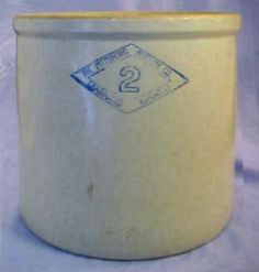 Large Antique 2 Gallon Stoneware Crock – Pittsburg Pottery Co Diamond 2 – Nice | eBay