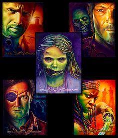Great artist on my Walking Dead page. Walking Dead Art, Walking Dead Series, Walker Stalker, Cast Art, Great Artists, Cartoon Art, Cute Drawings, Cool Pictures, Joker