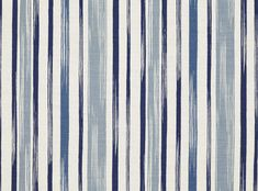 Raoul Cadet Blue - Ortega : Romo Designer Fabrics & Wallcoverings, Upholstery Fabrics - love this painterly stripe Blue Fabric, Linen Fabric, Cotton Linen, Linen Cloth, Romo Fabrics, Upholstery Fabrics, Fabric Design, Pattern Design, Print Design