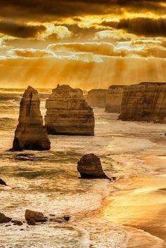 Golden 12 Apostles, Australia (by Bipphy Kath)