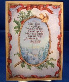 "SUSAN WHEELER HOLLY POND HILL ""SILENT NIGHT"" CHRISTMAS CARD DECORATED ENVELOPE   eBay"