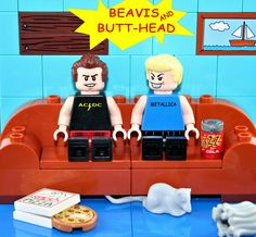 https://flic.kr/p/EEh2yd | Lego Beavis and Butthead | Made By Yours Truly