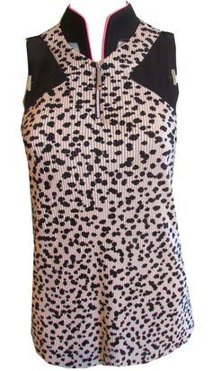 #lorisgolfshoppe Women's Golf Apparel offers a classy collection of golf skorts, shorts, dresses, and golf tops. You gotta see this Pinky (Bisque) Jamie Sadock Ladies & Plus Size Sleeveless Golf Shirt with unique , pretty colors!