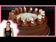 Ez egy alap csokitorta, amit nyugodtan tovább tudtok turbózni, például gyümölcsökkel. :)     Hozzávalók (22 cm): Piskóta:  150 g cukor + 60 g a habba 3 tojás 12 g sütőpor 243 g liszt 20 g kakaó 1,15 dl tej 1,15 dl olaj   Krém:  6 dl habtejszín 100 g… A Table, Mousse, Birthday Cake, Food, Cakes, Youtube, Kids, Cake Makers, Birthday Cakes