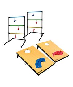 Backyard barbecues and summertime picnics in the park just became even more fun with this set of games that are perfect for kids and adults alike.Includes two ladder tosses, six bolas, two bean toss boards and six bagsWipe cleanImported