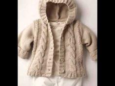 trendy Ideas for crochet bebe varon gorros Crochet Baby Cardigan, Knit Baby Sweaters, Crochet Baby Hats, Crochet Bebe, Crochet Girls, Irish Crochet, Crochet Diy, Tutorial Crochet, Baby Sweater Patterns