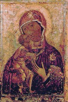 Icoana MD Teodorovskaia de la MănăstireaEpifaniei din Kostroma. Teodorovskaia se mai numeşte şi Fecioara Maria Neagră a Rusiei. /-/-/ The Feodorovskaya Icon of the MG of Epiphany Monastery in Kostroma. The Feodorovskaya is also called the Black Virgin Mary of Russia.