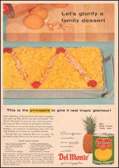 Tropic Snow Pudding- DEL MONTE PINEAPPLE GOOD HOUSEKEEPING 05/01/1957 p. 133