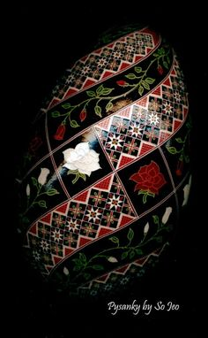 War of the Roses Ukrainian Easter Egg Pysanky By So Jeo