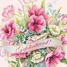 Felicitatiekaart met bloemen- Greetz