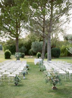 Provence wedding: http://www.stylemepretty.com/2015/03/27/lush-organic-destination-wedding-in-provence/   Photography: Greg Finck - http://www.gregfinck.com/