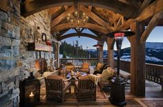 Love this outdoor living space and the view is spectacular!!