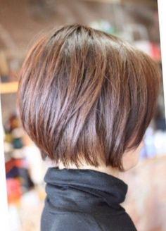 Coupe de cheveux carr court plongeant cheveux pinterest coup - Carre plongeant court degrade ...