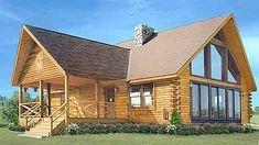 eLoghomes: AUBURN the premium loghome provider, offering over 300 models in all price ranges. Log Cabin Floor Plans, Log Cabin Kits, Log Cabin Homes, Cabin Plans, Log Cabins, Mountain Cabins, Interior Balcony, Log Cabin Furniture, Log Home Living