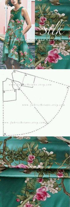 An idea for making a silk summer dress from sari fabric