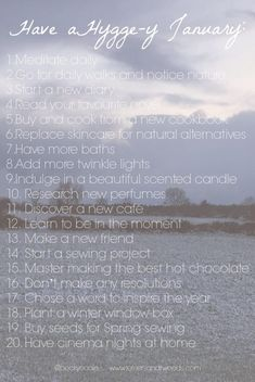 20 ways to Hygge in