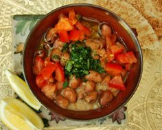 Ful Medammes (Fava beans...i love them) a bkfast meal in Egypt but I would eat as side dish