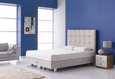 Octaspring Levanto Mattress on Divan Bed Base with legs. More info http://www.octaspring.co.uk/dreams