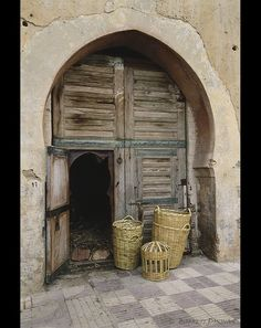 A classic Moroccan front door to a random house. LOVED this place. Wanna go again!!