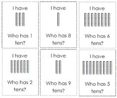 I have who has place value activity