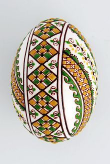 Easter egg in wax technology multi-coloured