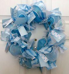 Baby Boy Wreath by GlamGlitterGlitz on Etsy, $55.00