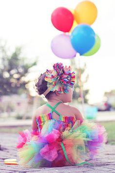 arco iris tutú traje circo equipo primer cumpleaños traje