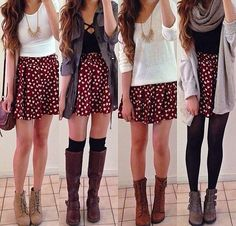 Such a cute idea with just one skirt, outfits, college, summer, cute