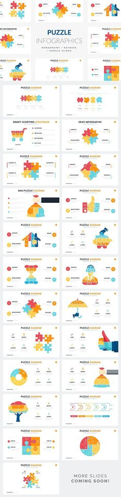 Puzzle Infographics | PPT - KEY - GS. Presentation Templates