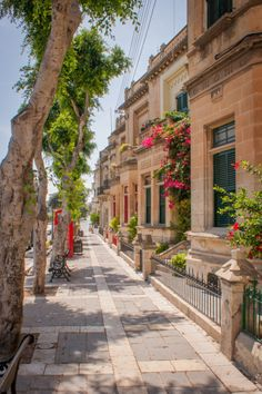 Traditional Maltese houses in the beautiful town of Rabat. Walking around this town is an experience in itself.
