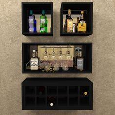 Diy Home Bar, Modern Home Bar, Home Bar Decor, Bars For Home, Canto Bar, Bar Sala, Kitchen Bar Design, Wine Stand, Coffee Bar Home