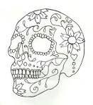 candy skull stencil - Google Search