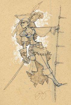 Drawing Doodles Sketchbooks pirate sketchbook print - Various Sizes - Cartoon Drawings, Drawing Sketches, Art Drawings, Sketchbook Drawings, Drawing Tips, Pirate Art, Pirate Crafts, Pirate Ships, Pirate Woman