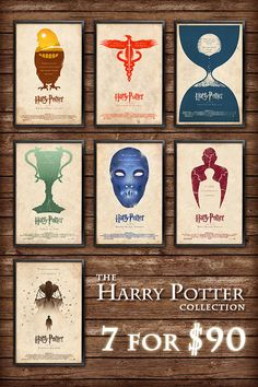 The Harry Potter Collection   11x17 Size by adamrabalais on Etsy, $90.00