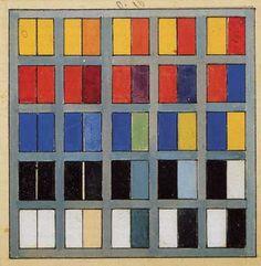 Theo van Doesburg Kleurkwadraat 1926 de Kleurenschaar - Stromingen: de Stijl