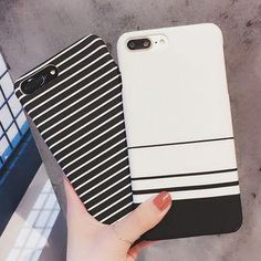 #mothersday #AdoreWe #YesStyle - #Rougi Striped Phone Case - iPhone 6 / 6S / 6 Plus / 7 / 7 Plus / 8 / 8 Plus - AdoreWe.com