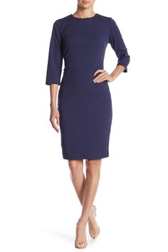 cd48ea356657 Tie Back 3 4 Sleeve Dress by Marina on  nordstrom rack Designer Work  Dresses