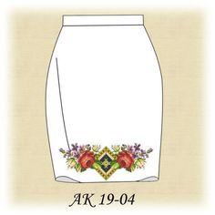 Заготовка к юбке Летние розы АК 19-04 Д