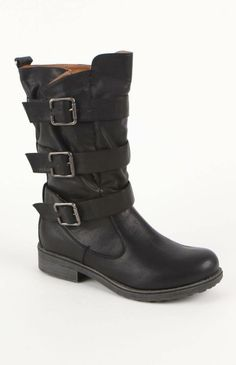 #Qupid Ragae Triple Buckle Boots