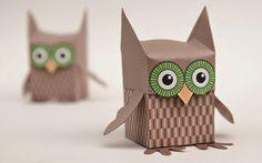 Folded Paper Owl Box | Munchkins and Mayhem