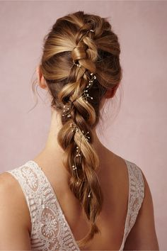 a new way to style your halos- braid them through your hair for subtle hints of sparkle | Sakura Halo from BHLDN