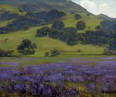 William Wendt, 'Lupine Patch'.  (1865-1946)