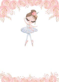 Cute Disney Wallpaper, Cute Wallpaper Backgrounds, Cute Cartoon Wallpapers, Flower Backgrounds, Baby Clip Art, Baby Art, Theme Mickey, Kids Graphics, Ballerina Birthday Parties