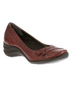 Love this Dark Red Burlesque Leather Wedge on #zulily! #zulilyfinds